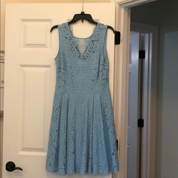 f7f9f84f021b9 Gabby Skye Dresses   Lace Blue Dress   Poshmark